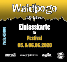 Waldpogo Ticket - Festival - inklusive Camping